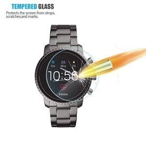 Image 2 - 2Pack Für Fossil Q Explorist HR Gen 4 0,3mm 2,5 D Klar Gehärtetem Glas Screen Protector Smartwatch Bildschirm schutz Schutz Film