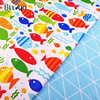 Printed Fish cotton Fabric Kids Cotton Twill Patchwork Cloth DIY Sewing Quilting Fat Quarters Material For Baby&Child