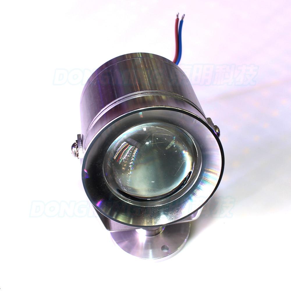 Led Lamps 4pcs Dc 12v 10w Underwater Led Lamp Convex Lens Underwater Light Silver Cover Underwater Led Light For Pool White/warm White