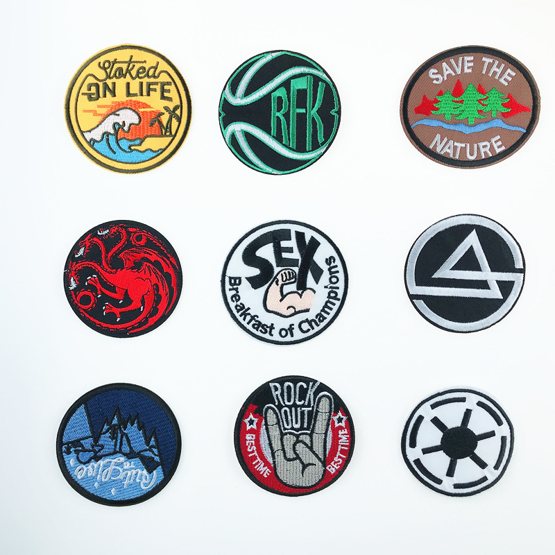 Embroidered Patch  Dragon Morale Patch Tactical Emblem Badges Embroidery Patches For Jackets Jeans Backpack Cap emblem