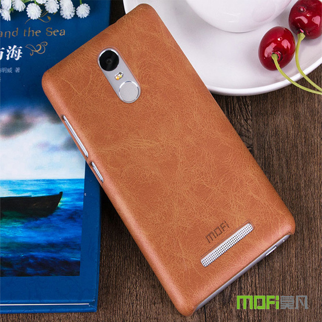 MOFi Leather Case for Xiaomi Redmi Note 3 Note3 Pro Phone Bumper Fitted Case for Xiaomi Kenzo Red mi Note 3 Hard PC Frame Cover