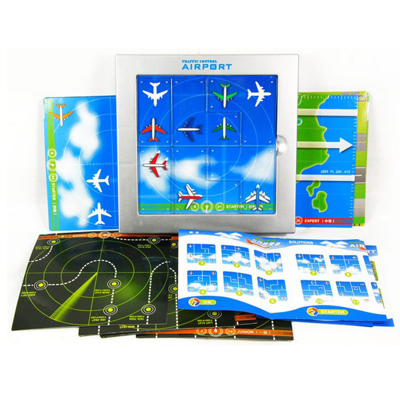 Airport  Board Game 48 Levels Funny Puzzle Game For Children Environmental  ABS Plastic With  Free Shipping