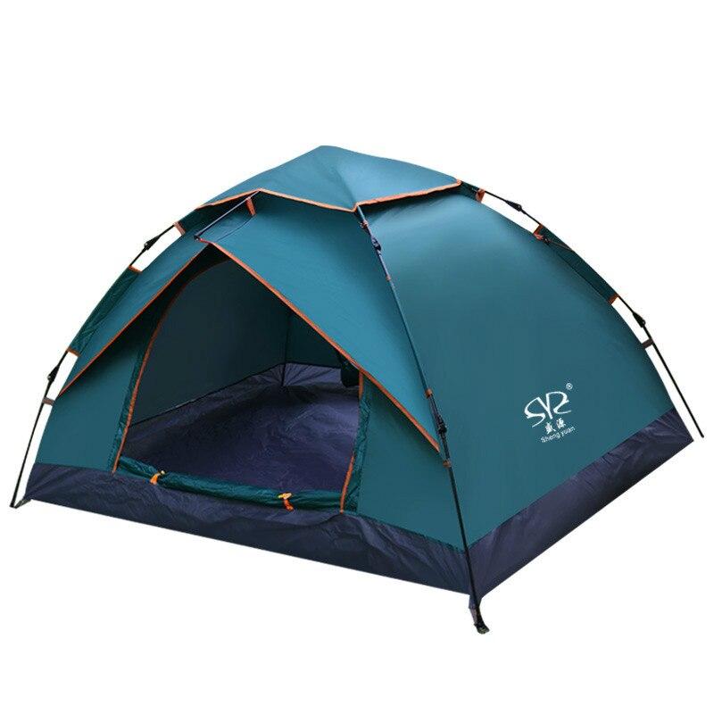 Imperméable à l'eau Tente de Camping De Pêche de Chasse Automatique Ouvert Tentes Plage Voyage Double Couches Anti UV Touristique Tente AA12041