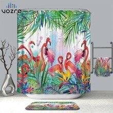 VOZRO Shower Curtain Bathroom Waterproof Polyester Flamingo Africa Bape Douchegordijn Pascoa Cortina Ducha Cactus Youtube London
