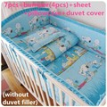 Promoción! 6 / 7 unids Baby Boy Crib Bedding set / Boy cuna set Nursery bedding, 120 * 60 / 120 * 70 cm
