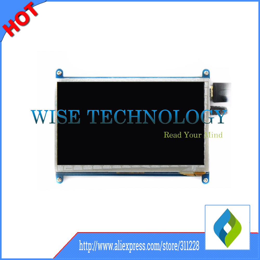7 inch LCD display monitor suitable for Raspberry Pi 3 with touch screen 800*480 computer HDMI HD BB BLACK