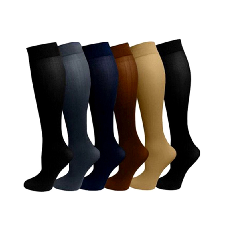 1 Pair Unisex Socks Leg Relief Pain Knee High Stockings Pressure Compression Socks Support Stretch Pressure Circulation