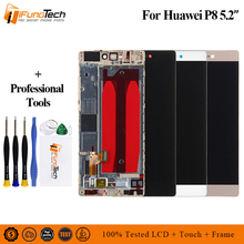 For Huawei P8 LCD Display Touch Screen Digitizer Assembly With Frame Replacement GRA-UL00 GRA-TL00 GRA-CL00 For Huawei P8 LCD for huawei p8 lite lcd display with touch screen digitizer assembly replacement parts
