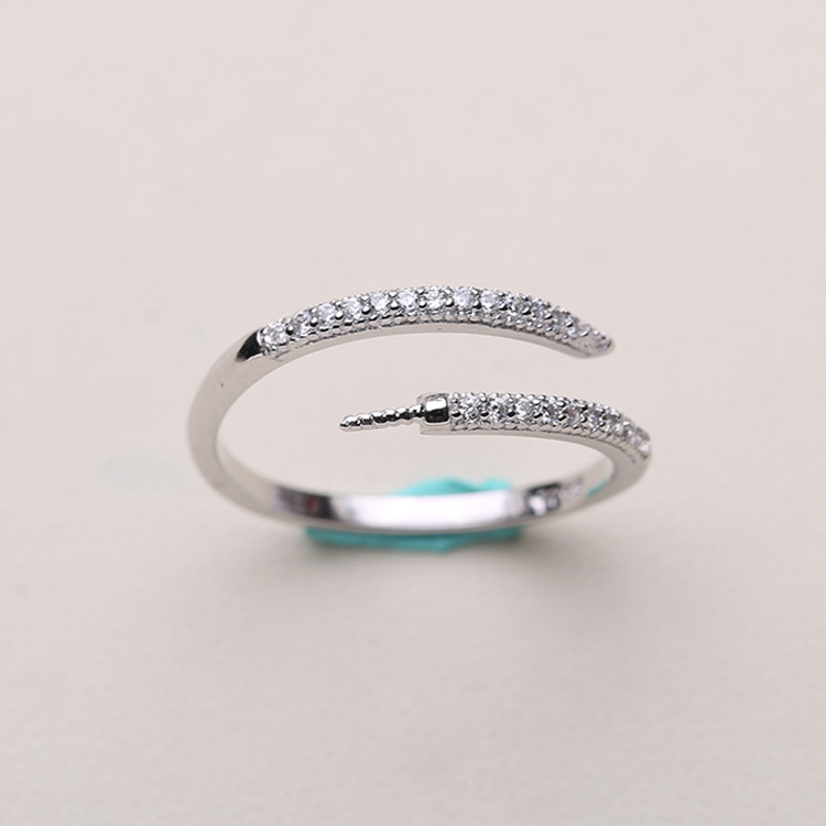 New Classic Adjustable Rings Settings Women DIY Pearl Rings Jewelry Findings Components S925 Silver Simple Design