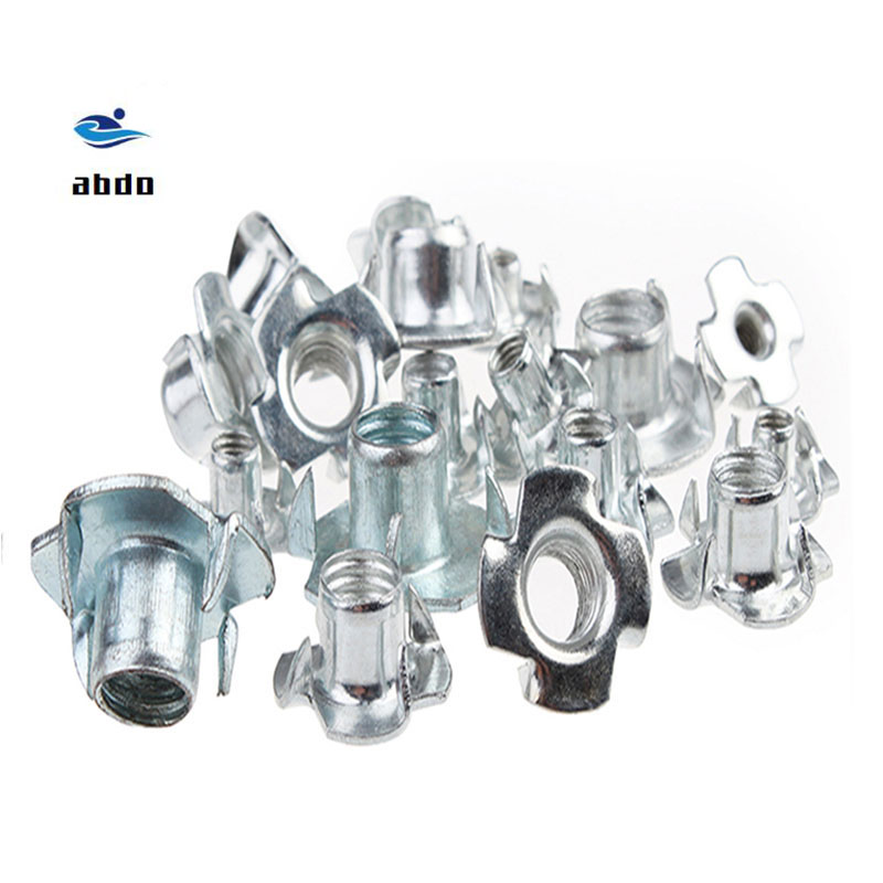 100PCS/lot M3- M10 Four Claw Nut /Four Claw Female Furniture Nut/Captive T Pronged Tee Blind Nuts
