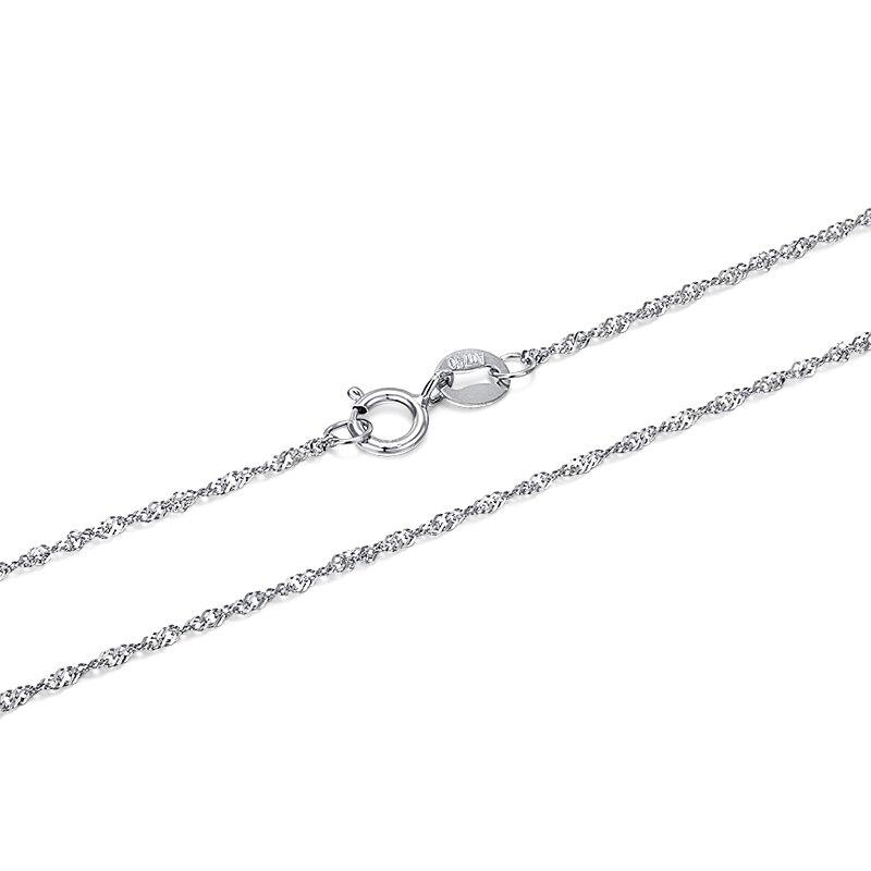 GCZQ 100% véritable collier d'ondulation d'eau 18 K chaîne en or pur collier en or pour femmes collier de longueur réglable - 3