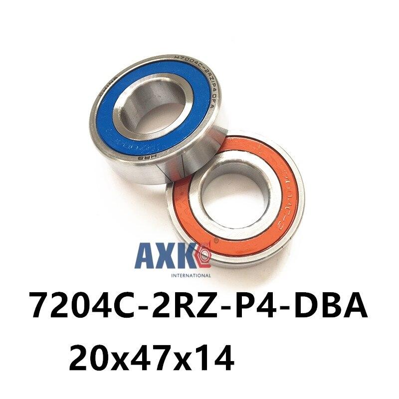 1 pair AXK 7204 7204C-2RZ-P4-DBA 20x47x14 Sealed Angular Contact Bearings Speed Spindle Bearings CNC ABEC 7 Engraving machine 1pcs mochu 7204 7204c 7204c p5 20x47x14 angular contact bearings spindle bearings cnc abec 5