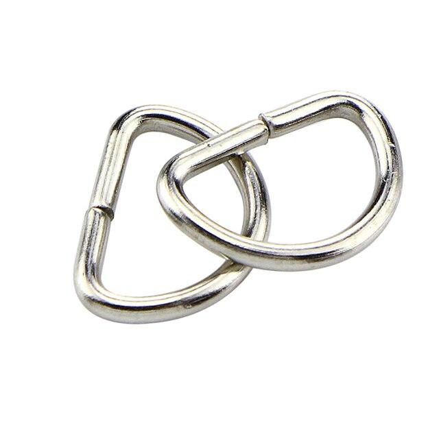 (30 pièces fermoirs + 30 pièces D anneau) métal pivotant déclencheur mousqueton mousqueton porte-clés anneau Paracord lanière bricolage Craft