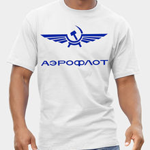 2018 New Men S Aeroflot Airlines Vintage Retro Russia CCCP USSR Soviet T  Shirt Distressed(China fc7834727