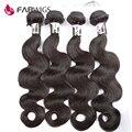 Fabwigs brasileira 7a onda do corpo do cabelo virgem 4 bundles não transformados cabelo humano tecer cabelo brasileiro feixes onda do corpo brasileiro