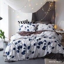 Ropa de cama de alta densidad de hilos de algodón egipcio de satén juegos de cama colchas de flores de hoja de funda nórdica conjunto de plumas ropa de cama de impresión