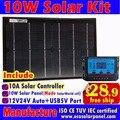 10 W Painéis Solares + 10A 12 V 24 V Controlador Solar, DIY 18 V painéis de células Solares carregador de bateria de 12 V, MPPTSUN Marca, CE