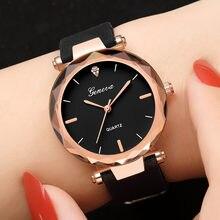 a9ef4be60 Venta caliente más nuevo de marca de lujo de Ginebra reloj mujer relojes de  cuarzo de