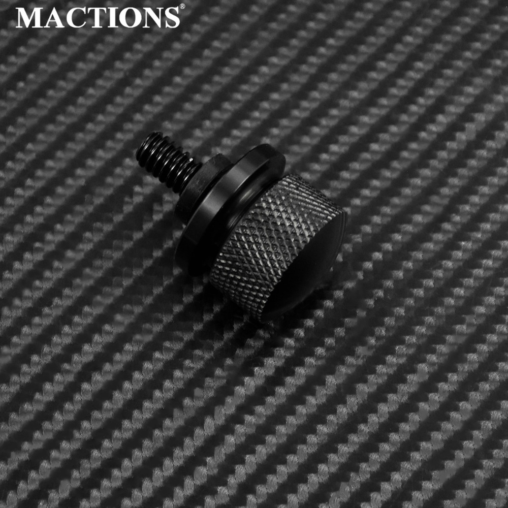1 Pc Motorcycle Rear Seat Bolt Spatbord Bolt Schroef Cap Cnc Zwart Voor Harley Sportster Touring Dyna Softail Road Glide Street Glide