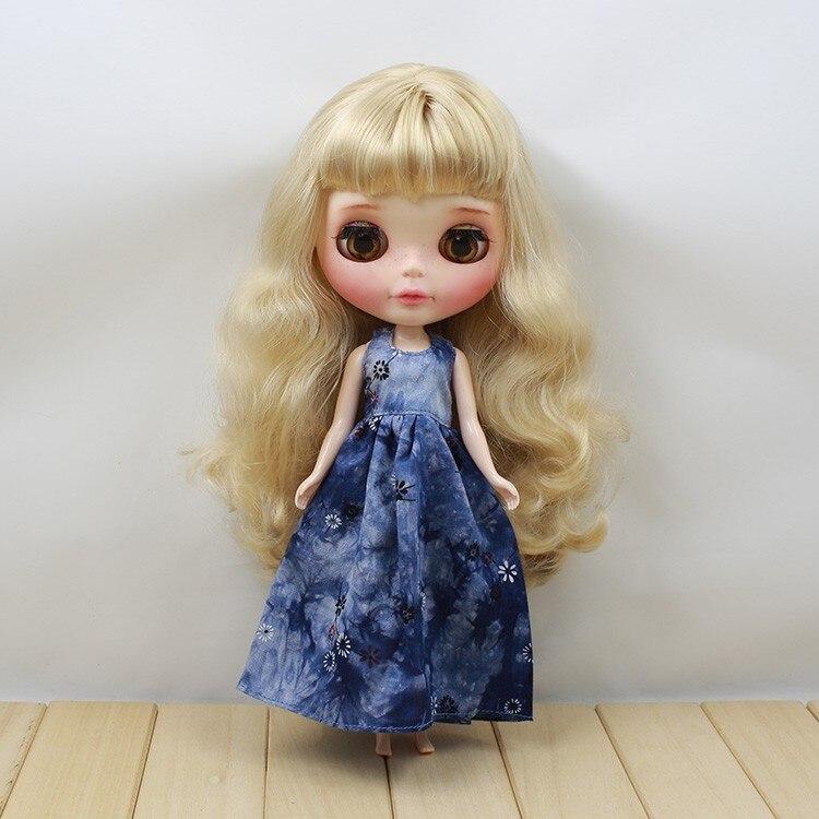 Neo Blythe Doll Retro Spring Flowers Dress 5