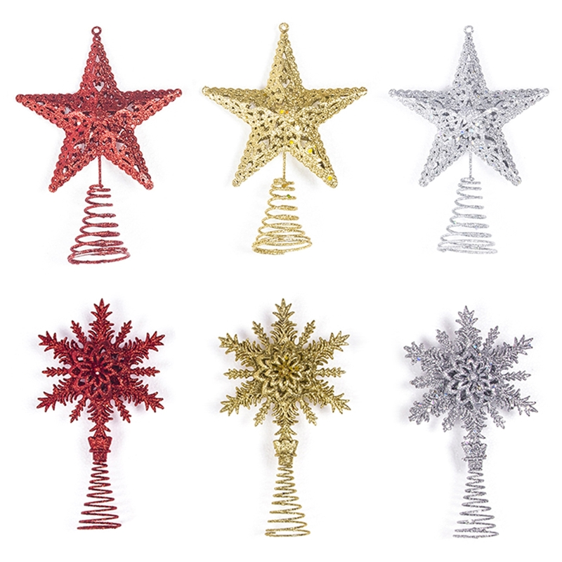 aliexpresscom buy inhoo red christmas tree top decorations stars for home house table topper decor accessories ornament xmas decorative supplies from