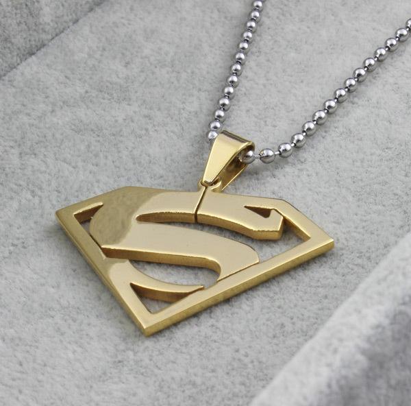 Superman Steel Pendant Gold Plated