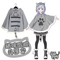 Anime Neko Atsume Cosplay Umhang Quadratische Element Nyanko-sensei Pullover Mantel Hohe Qualität + Freies Verschiffen G Freie Größe