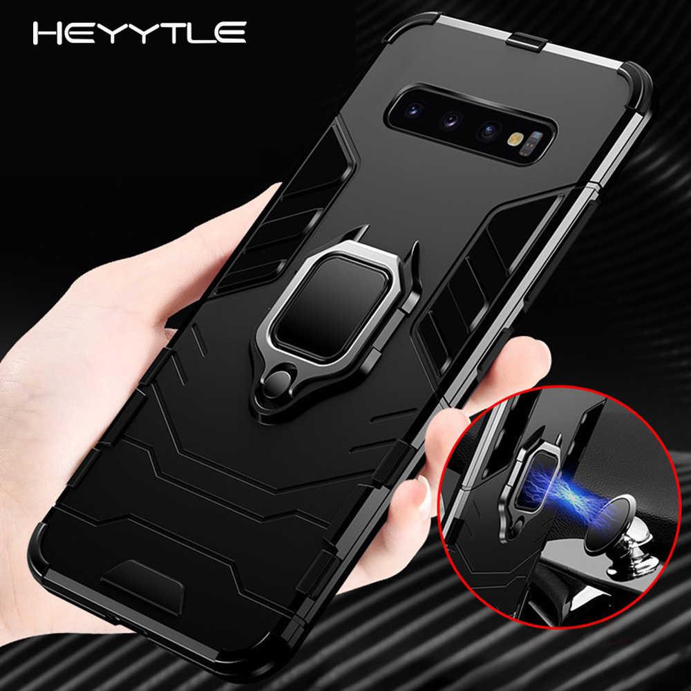 Защитный противоударный чехол Heyytle для samsung Galaxy S9, S8 Plus, S7 edge, A5, S10, металлический магнитный чехол, кольцо, держатель, чехол, Note 8, 9, чехол
