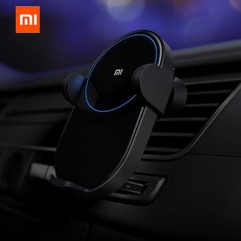 Оригинальное беспроводное автомобильное зарядное устройство Xiao mi jia 20 W Max Electric Auto Pinch 2.5D стекло кольцо Горит для mi 9 (20 W) mi X 2 S/3 (10 W) Qi