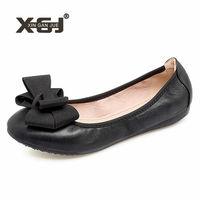 Big Size 41 42 43 Autumn Ladies Shoes 9 Candy Colors Ballet Flats Women Black Office Work Shoes Sweet Bowtie Women Flat Shoes