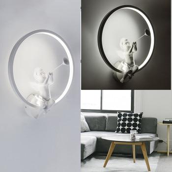 Modern Acrylic Wall Lamps Nordic Creative Angel Wall Light Sconces For Living Room Bedroom Bedside Lighting AC86V-265V Fixtures
