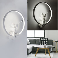Modern Acrylic Wall Lamps Nordic Creative Angel Wall Light Sconces For Living Room Bedroom Bedside Lighting