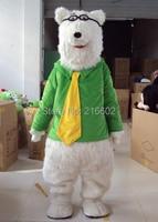 Polar bear Mascot costume Polar bear Mascot costume Bear Mascot costume Free shipping