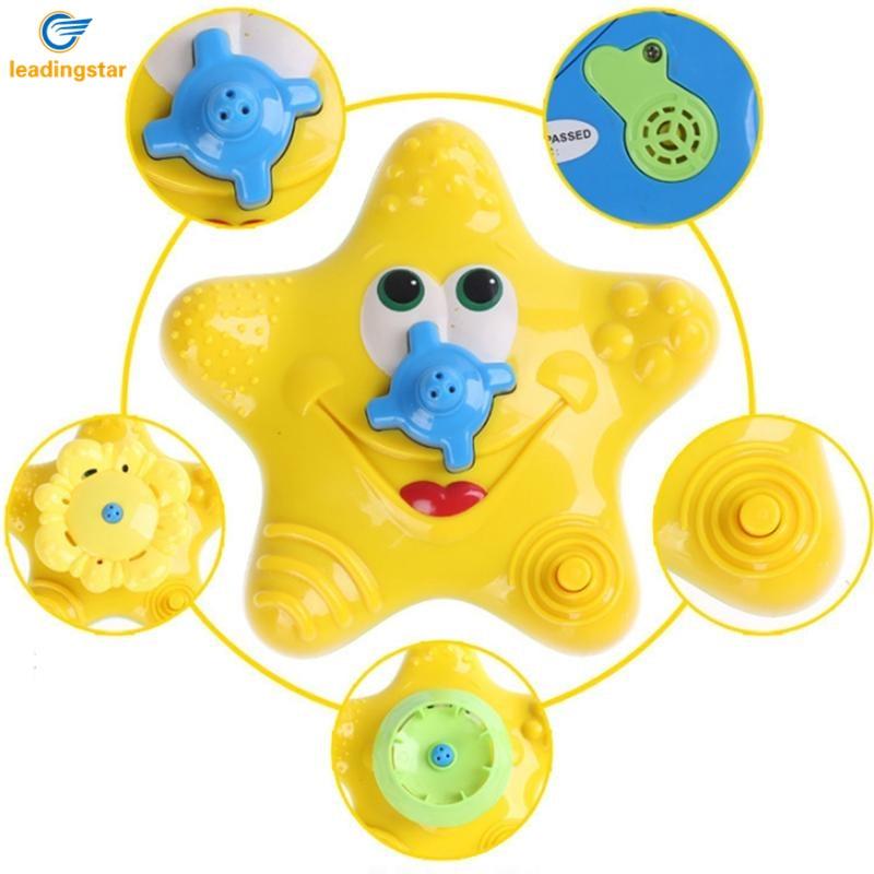 LeadingStar Baby Bath Splash Spray Toy Starfish Rotate Squirter for Swimming Pool Bathtub Random Color zk35