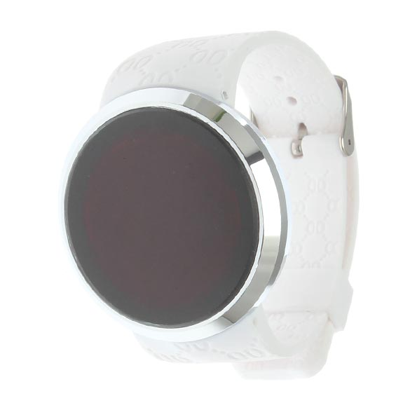 Fashionable Screen Watch LED Rounded Compass Men Woman Sport Watch White LXH цена и фото