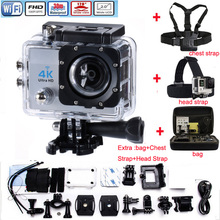 Q3H Sports Action Video Camera 4KUltra HD 1080P Wifi LCD 170 degree Wide-Angle Lens Waterproof Mini Camcorder
