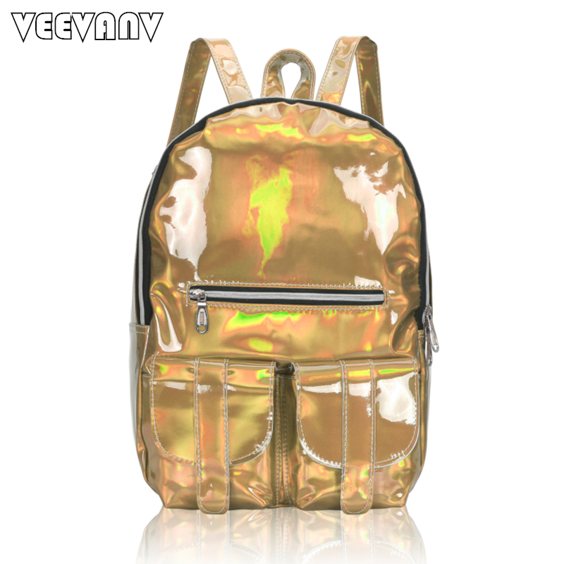 2017 VEEVANV Women Backpack Female School Backpack Waterproof Travel Bag Shoulder Bag Designer Laser Sparkling Backpack