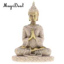 The Hue Sandstone Meditation Buddha Statue Sculpture Hand Carved Figurine Statue Home Decoration