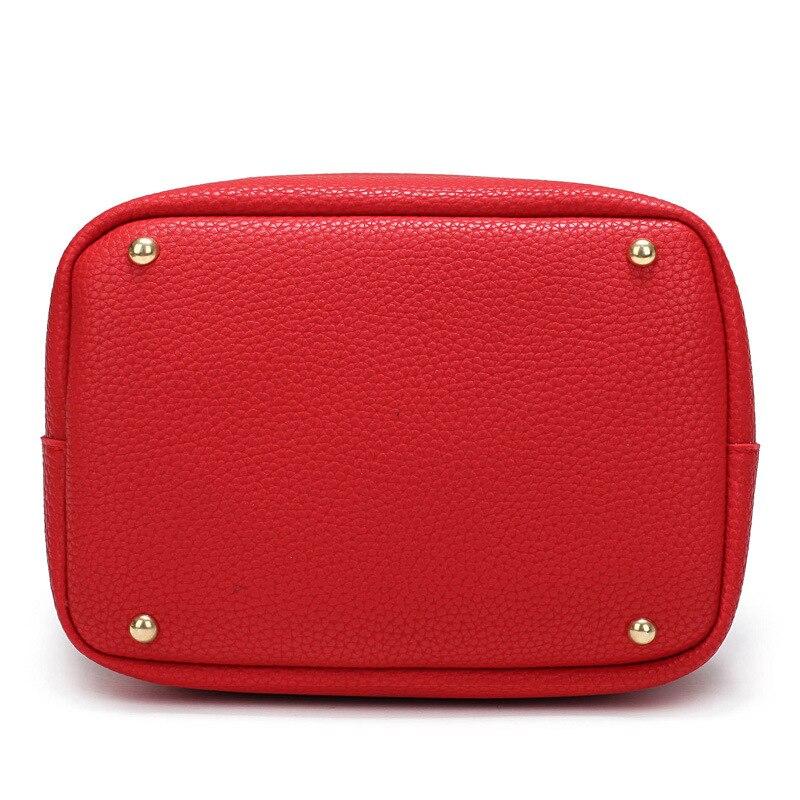 Rugía Ovejas Mujeres Bolsos de Diseño de Lujo Bolsos de Cuero de LA PU Pequeño Bolso Del Cubo Rojo Rosa Negro Para Las Mujeres Feminina bolsa de Asas