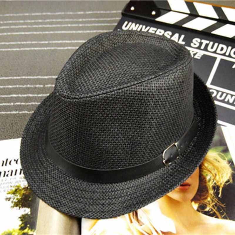 New Classic Mens Women Straw Fedora Hat Caps sun hats Wide Brim Panama Hat Summer Dress Hat Accessories