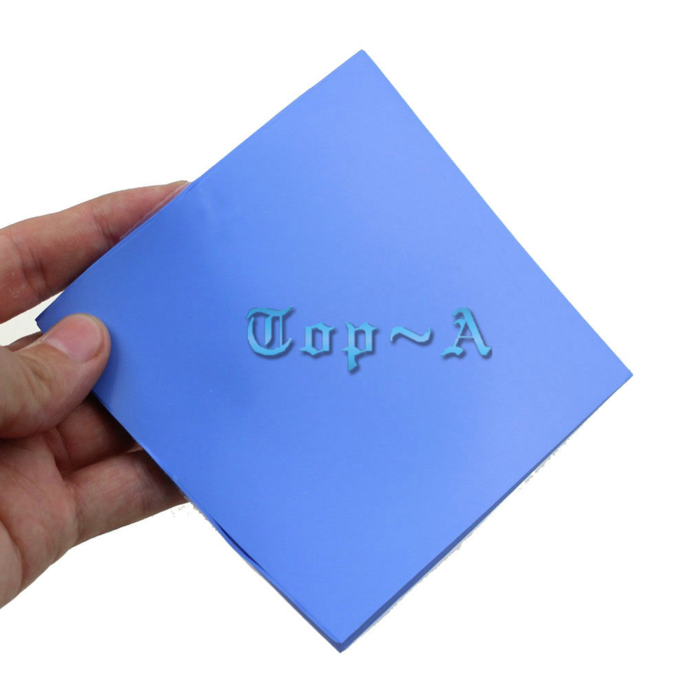 free shipping 1 Pcs Blue100mm x 100mm x 2.5mm GPU CPU Compound Conductive Mini Silicone Thermal Pad for Laptop single sided blue ccs foam pad by presta