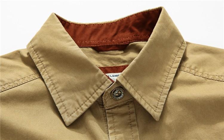 AFS JEEP 2015 Spring Autumn Fashion Men\'s Cotton Dress Plus Size Shirts Camisa Hombre Blouse Vestido Men Clothes Casual 2XL 3XL (8)
