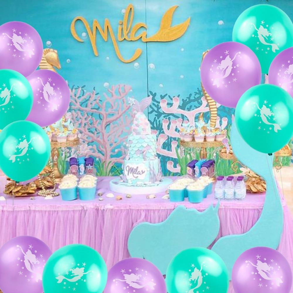 Huiran Mermaid Party Supplies Mermaid Decor Balloons ...