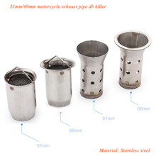 Universal Motocycle Exhaust Muffler Pipe System Modified Stainless Steel Silp on for 60mm DB Kiiler Silencer
