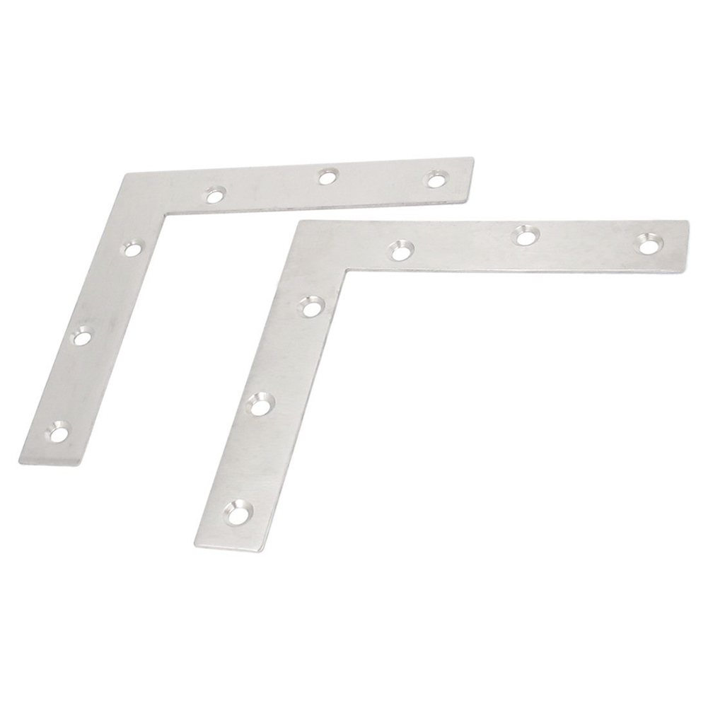 2pcs 150mmx150mm Flat L Shape Corner Brace Repair Plate Angle Bracket 10 pcs lot silver color metal corner brace right angle l shape bracket 20mm x 20mm home office furniture decoration accessories