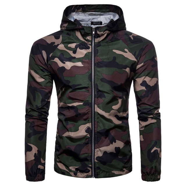 Camouflage Jackets for Men Autumn Casual Hoodie Thin Military Tactical Jacket Waterproof Windproof Coat Hooded Camo Army Outwear