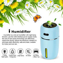 Portable Mini Usb Humidifier,200Ml Ultrasonic Cool Mist Humidifier With 7 Colors Light Changing For Bedroom Home Office Travel