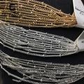 DIY cadena de Perlas Pulsera de cadena Tobillera Collar que hace materiales Sexy cadena de Cuentas 3mm cadena 2mm 500 cm