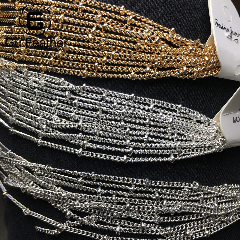 GUFEATHER C07/DIY chain Beads chain Bracelet Anklet Necklace making materials Sexy chain Beads 3mm chain 2mm 500cm