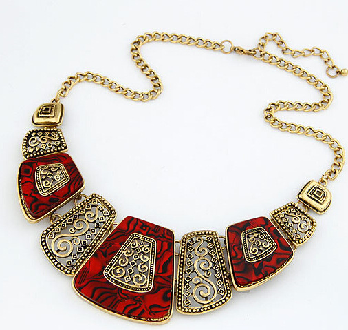 Buy New Bohemia Choker Necklace 5 Colors Fashion Ethnic Collares Vintage Bead